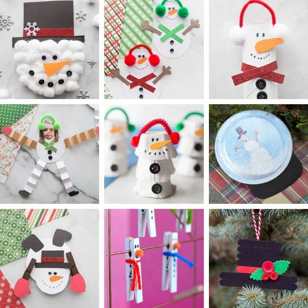 Christmas Snowman Crafts for Kids