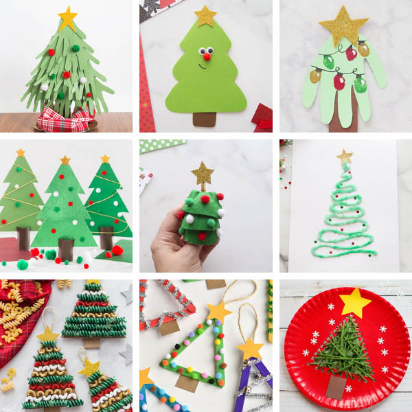 Christmas Tree Crafts for Kids Ideas