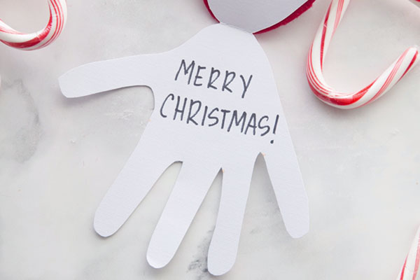 Santa Handprint Card Craft