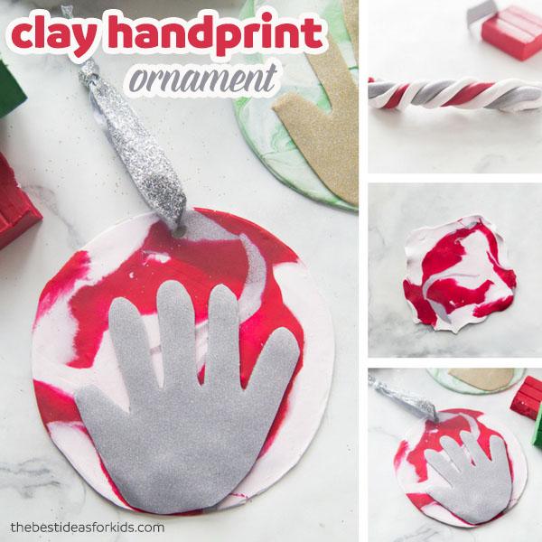 Polymer Clay Handprint Ornament