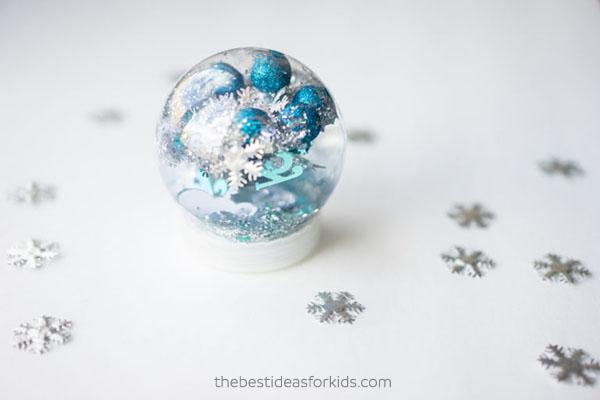 Snowflake Sensory Bottle Craft