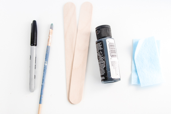 Supplies for Penguin Bookmark