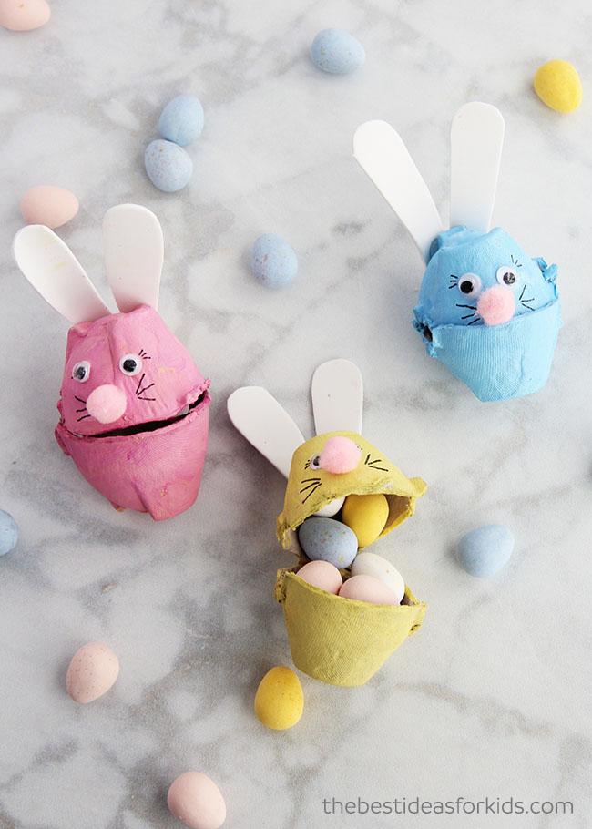 Egg Carton Bunnies Craft