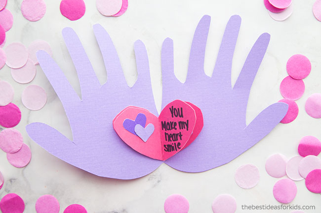 Handprint Mothers Day Craft for Kids