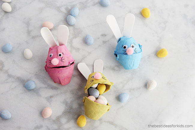 Easter Bunny Craft Egg Carton Bunny