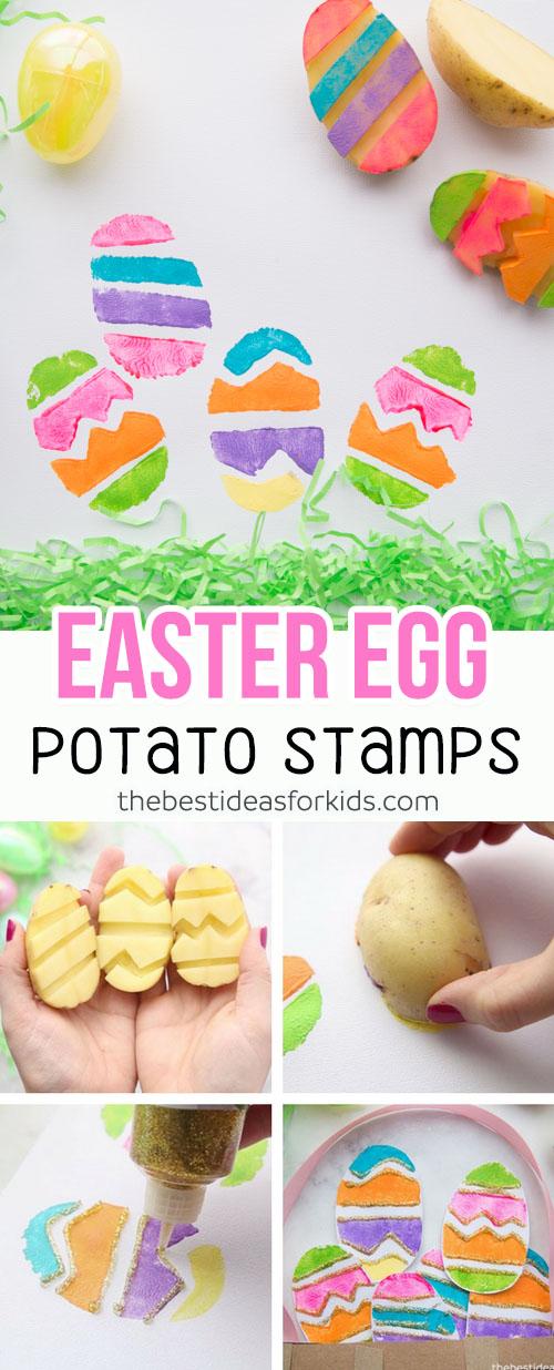 Easter Egg Potato Stamp Easter Craft for Kids