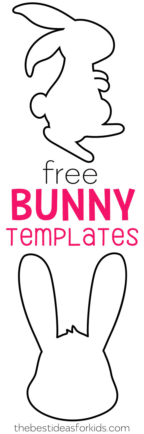 Free Bunny Template Easter Bunny Template