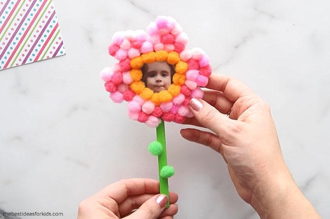 Pom Pom Flower Magnet Craft