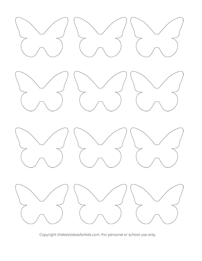 Paper Butterfly Template Free