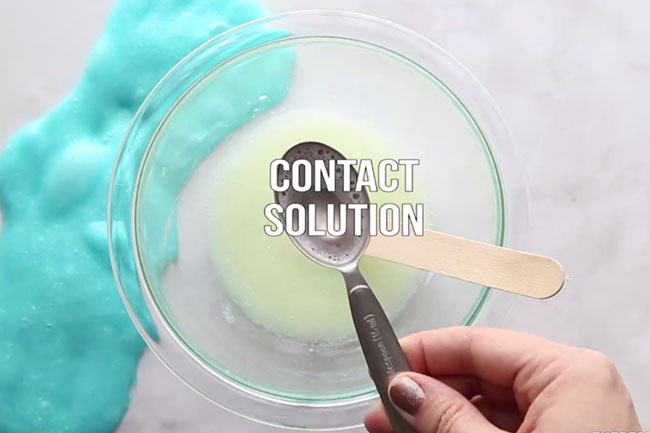 Contact Solution Glow in the Dark Slime