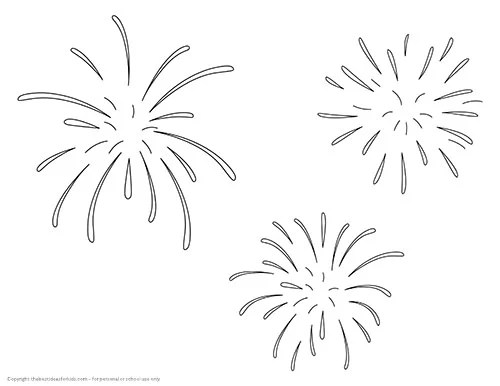 Free Fireworks Template