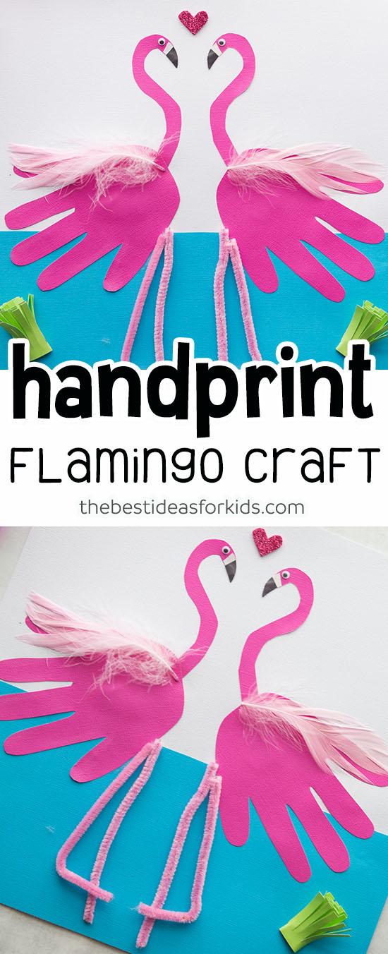 Flamingo Handprint Craft for Kids