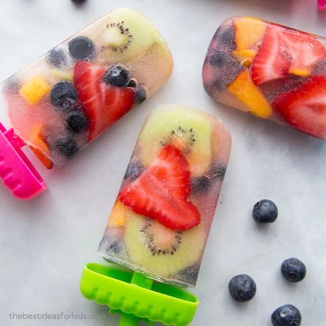 Homemade Fruit Popsicles for Kids