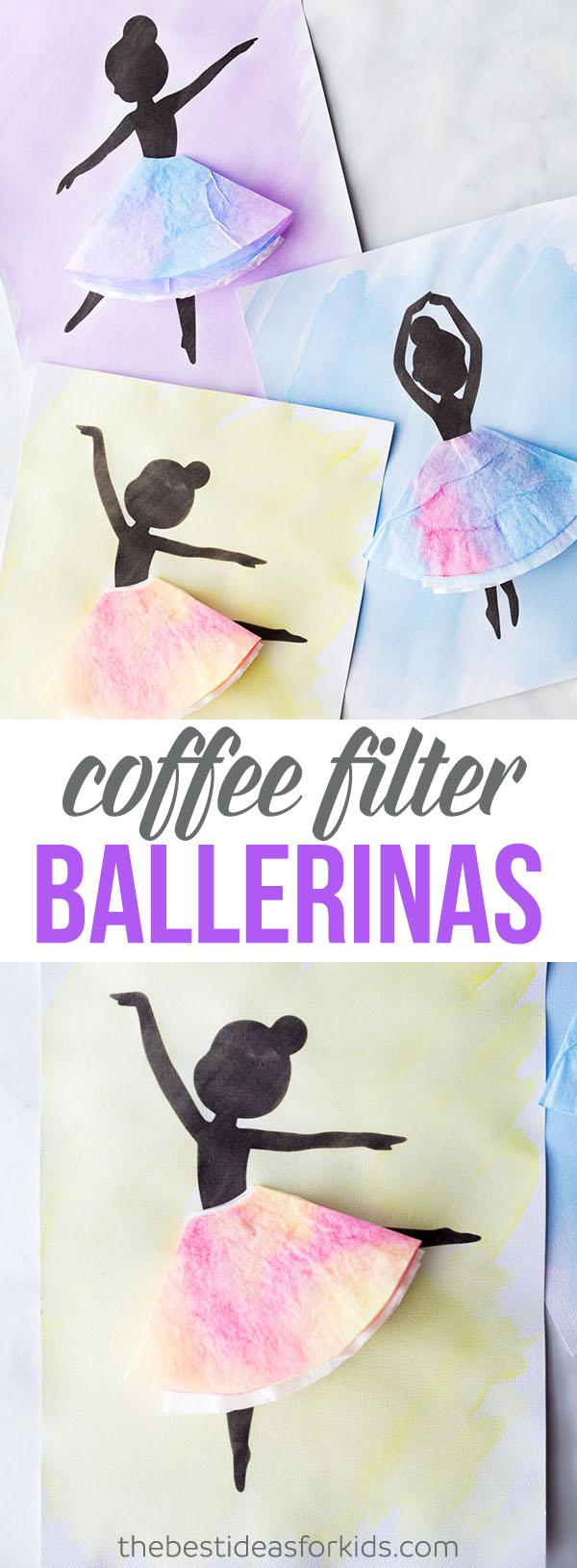 Coffee Filter Ballerina Silhouette Craft