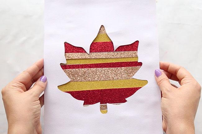 Glitter Paper Silhouette Art