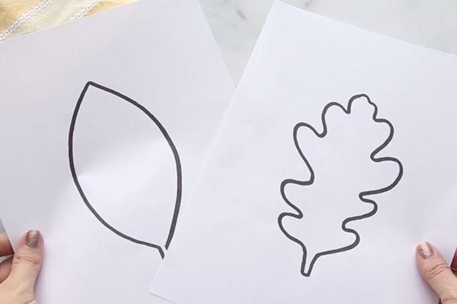 Leaf Printables for Suncatcher