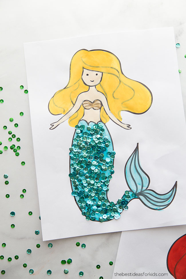 Mermaid Pictures to Color