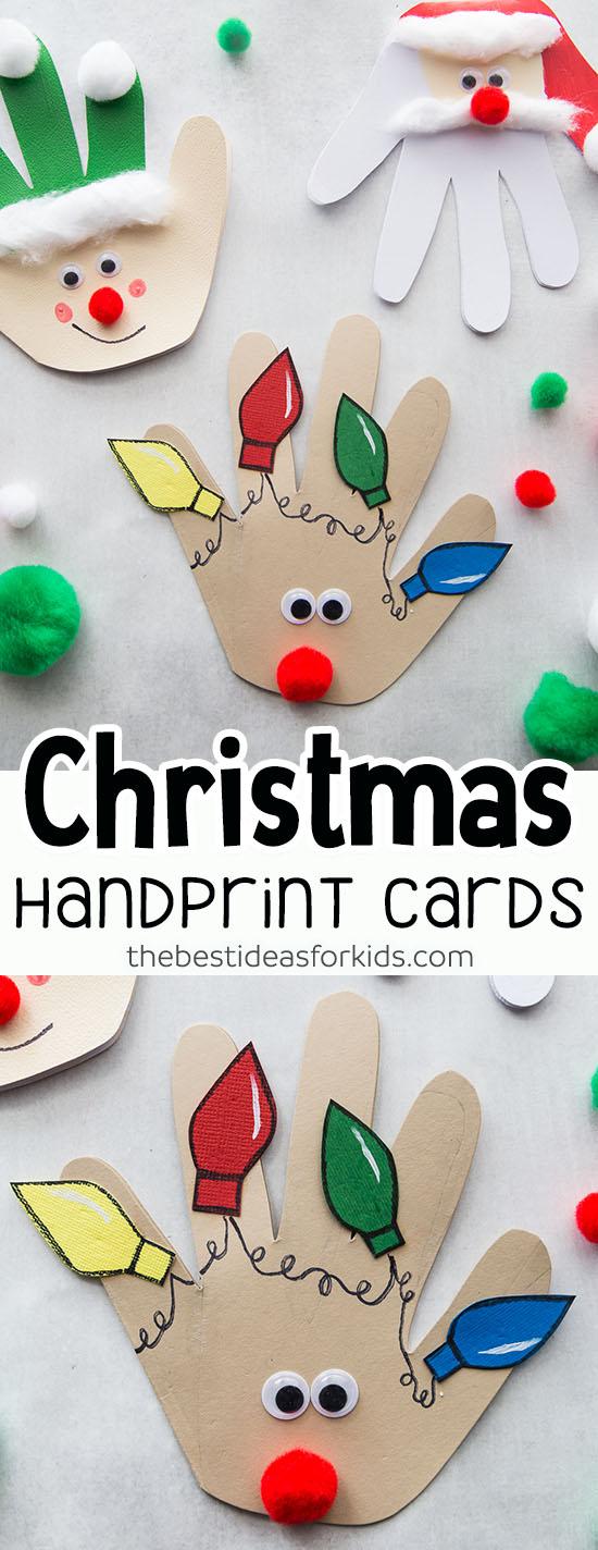 Christmas Handprint Cards Craft Ideas