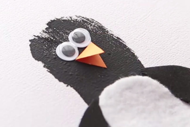Add Penguin Googly Eyes and Nose
