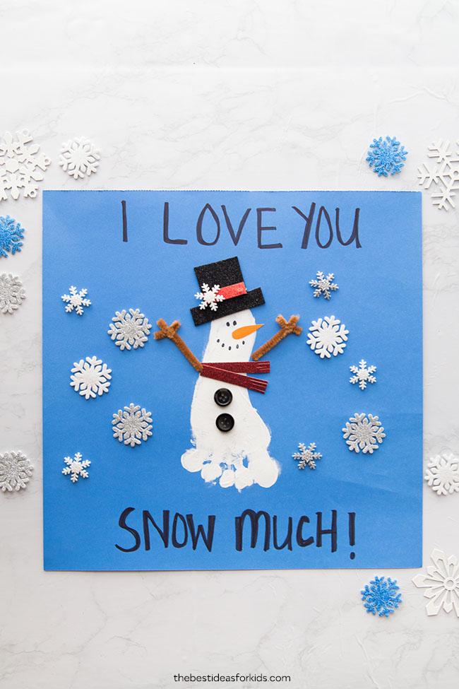 Footprint Snowman