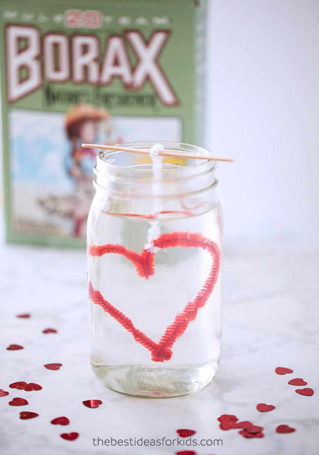 Borax Crystal Heart Experiment