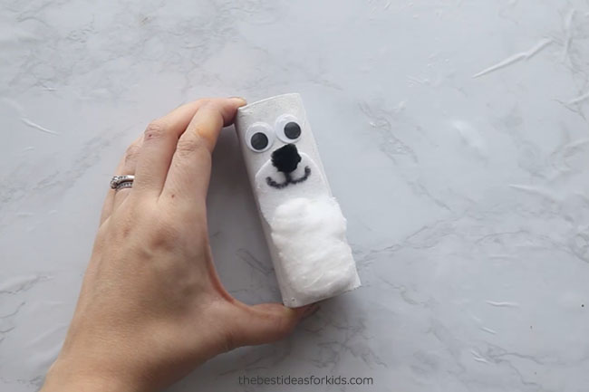 Glue Googly Eyes to Polar Bear