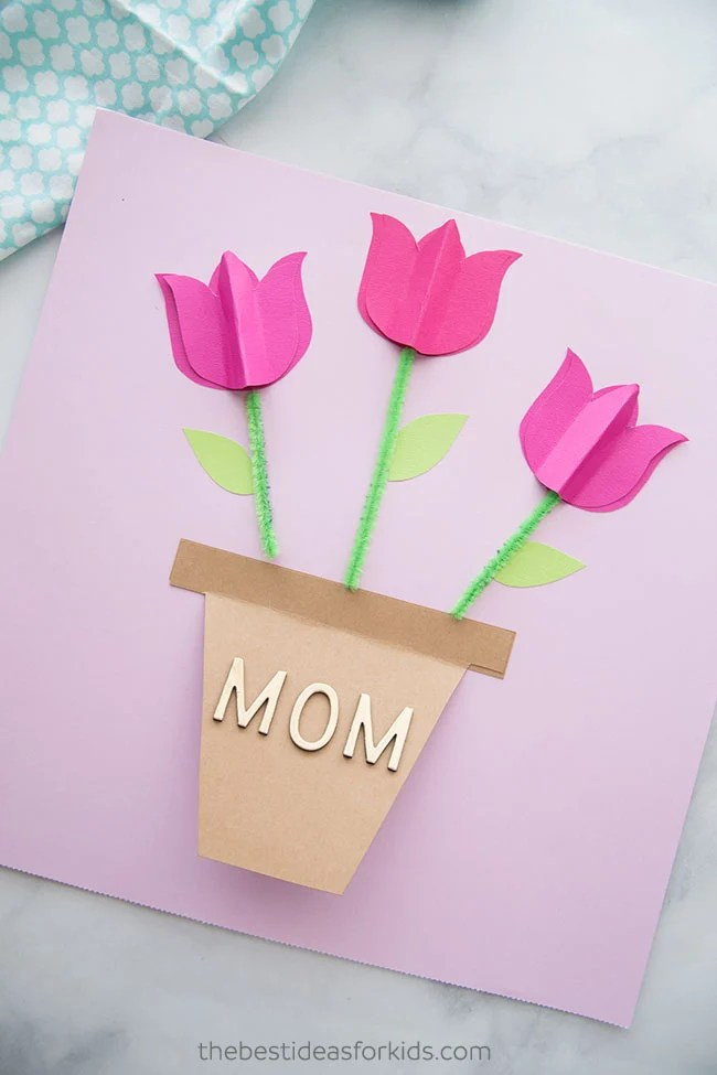 Paper Tulip Mothers Day Card