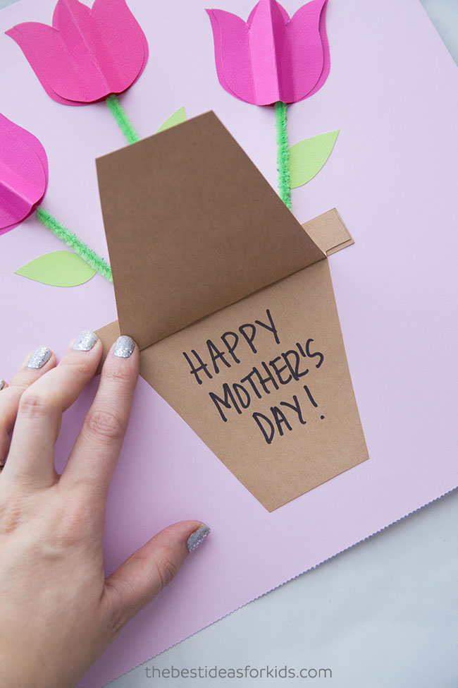 Tulip Mothers Day Card Craft
