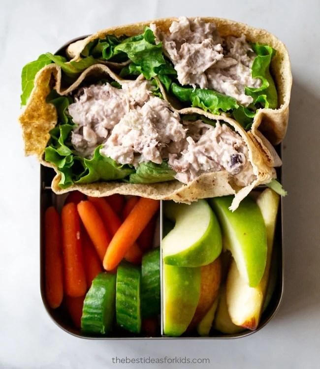 Chicken Salad Pita Lunch Ideas for Kids