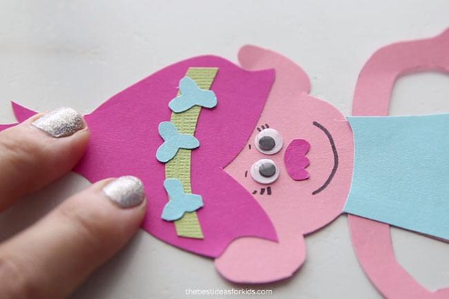 Make Poppy Face for Bookmark