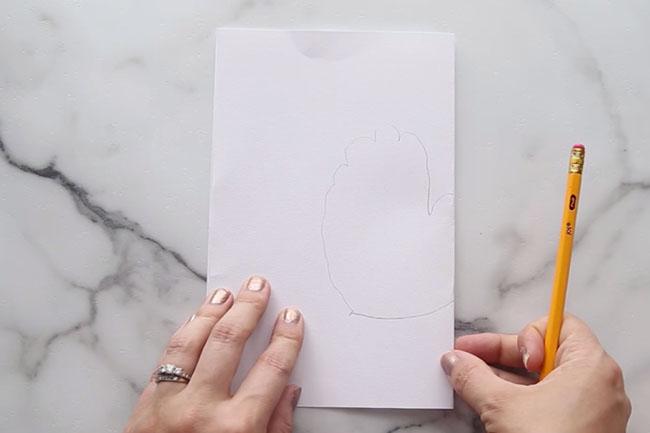 Trace Handprint for Raccoon Card