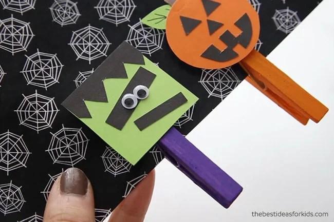 Frankenstein Halloween Clothespin