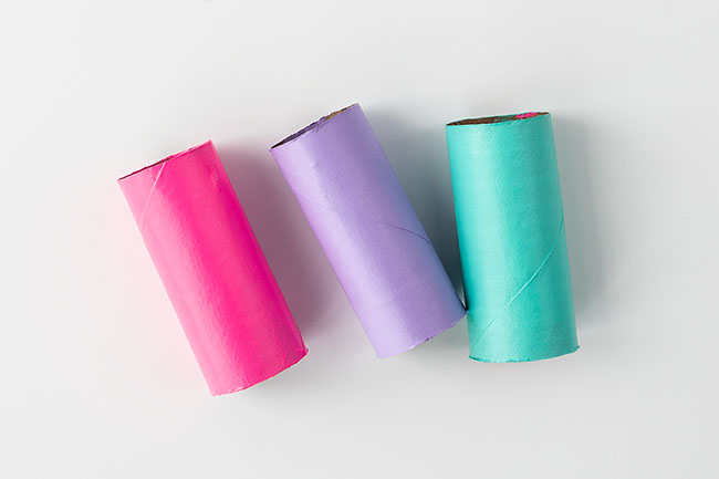 Paint Paper Rolls for Butterfly