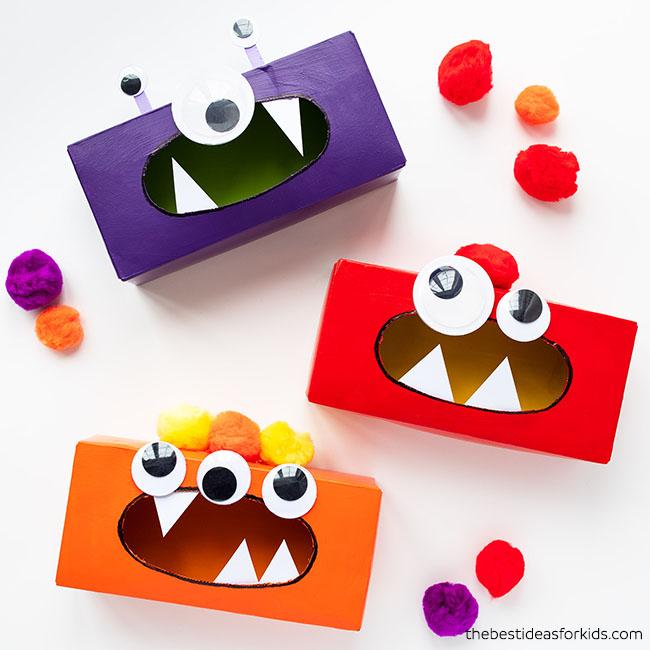 Tissue Box Monster Craft for Kids