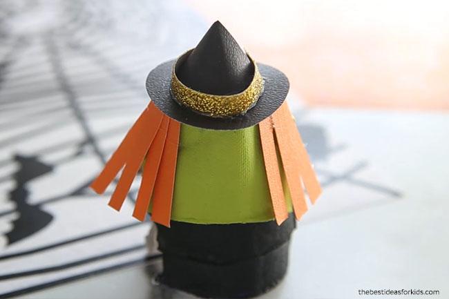 Witch Egg Carton Craft Make Hair