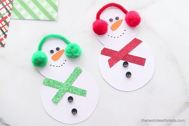 Add Buttons to Snowman Card