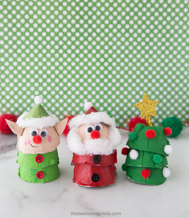 Egg Carton Christmas Crafts