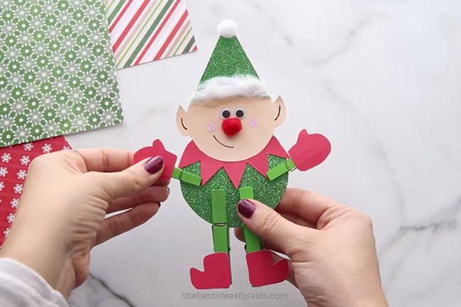 Clothespin Elf Craft