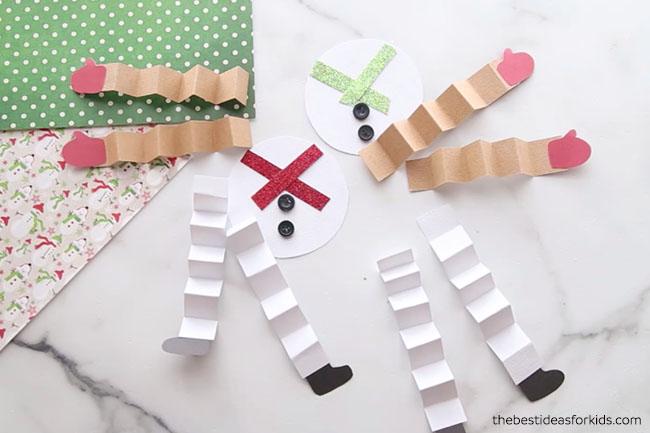 Paper Snowman Pieces