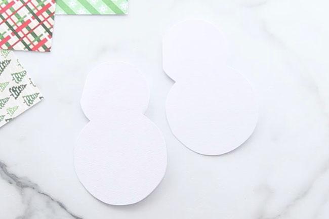 Printable Template Snowman Card
