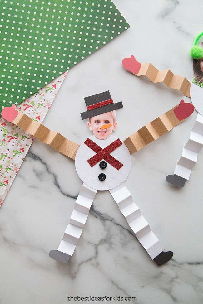 Snowman Paper Craft with Photo
