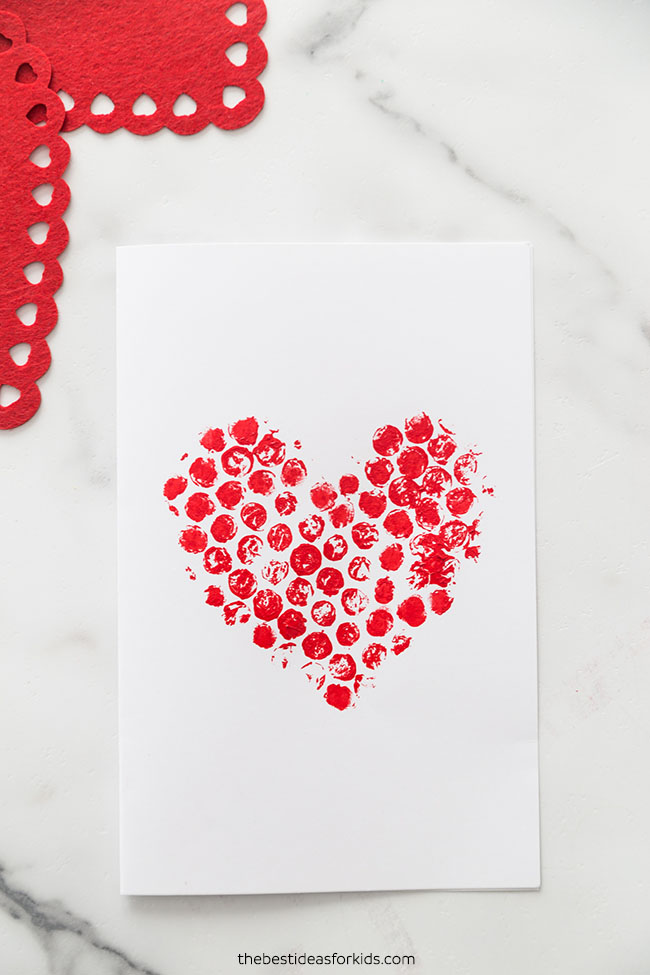Bubble Wrap Heart Valentine Card