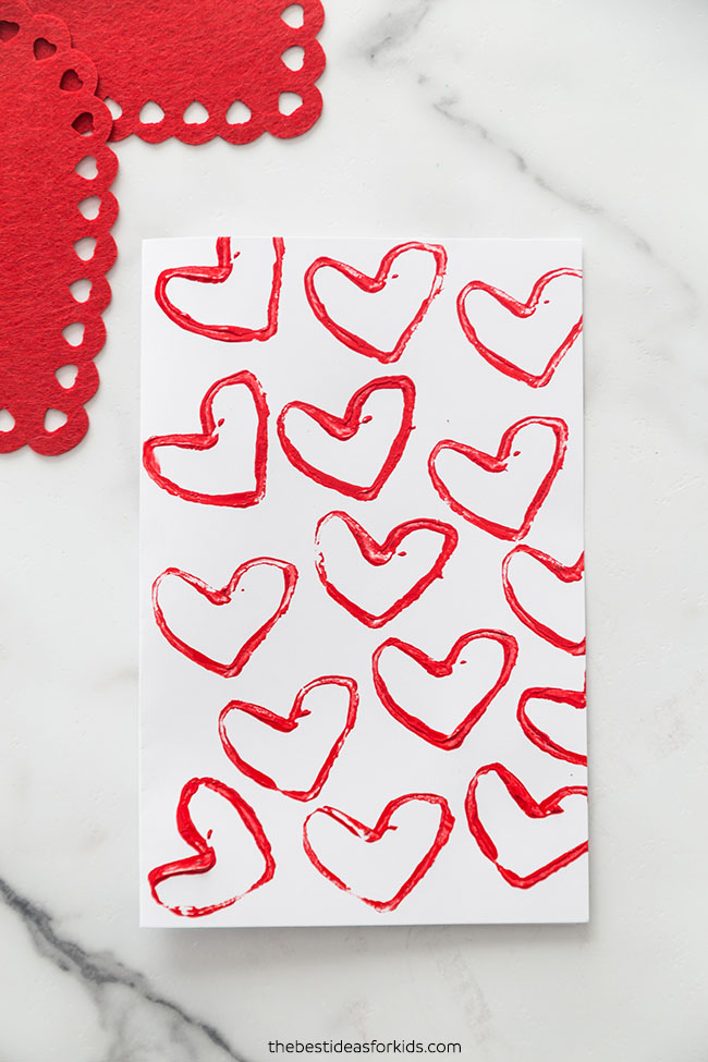 Paper Roll Heart Valentine Card