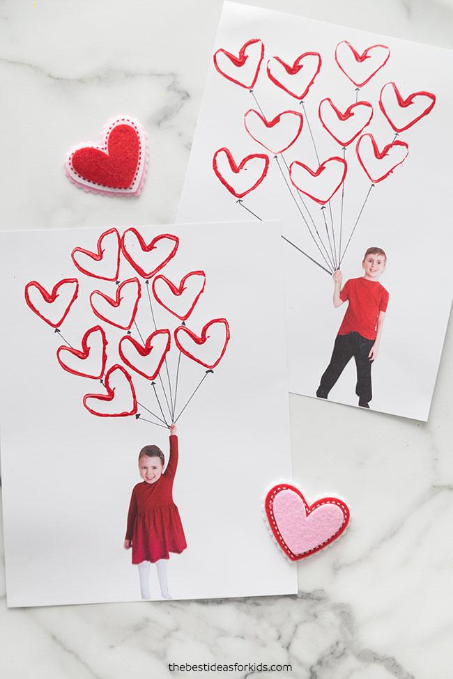 Valentine Balloon Craft for Kids