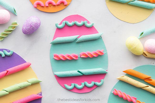 Pasta Easter Egg for Kids