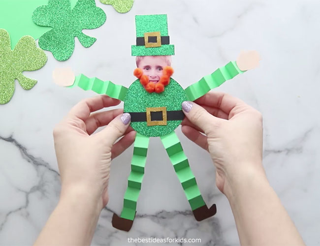 St Patrick's Day Paper Leprechaun