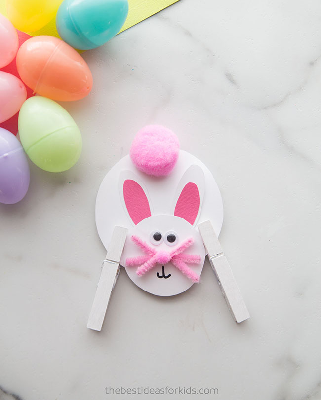 Easter Bunny Clothespin Craft