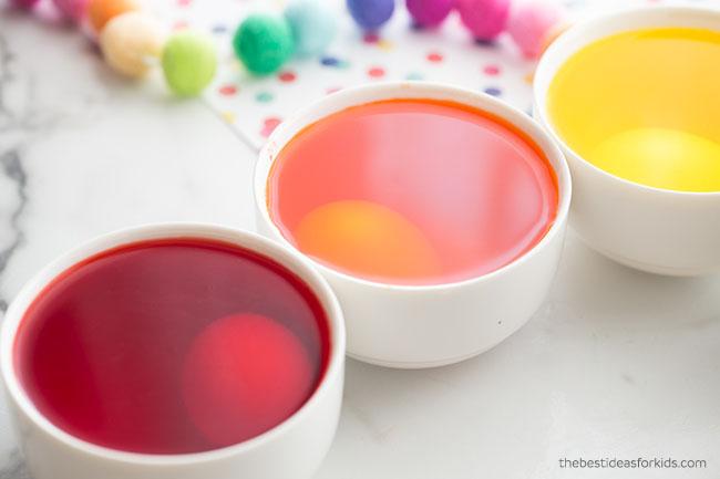 Let Eggs Sit in Food Coloring