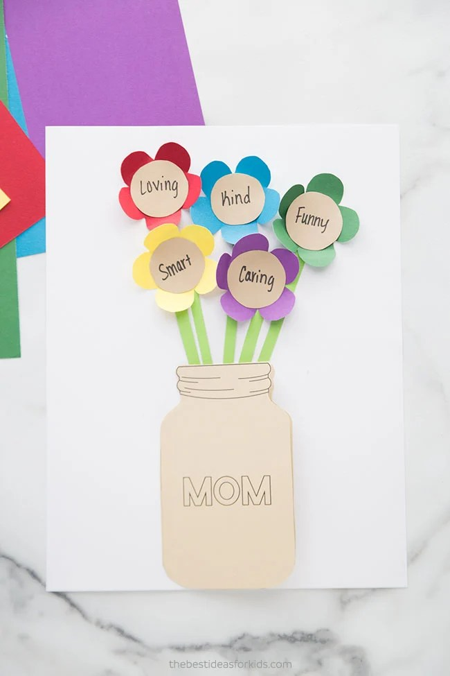 Mother's Day DIY Card Mason Jar