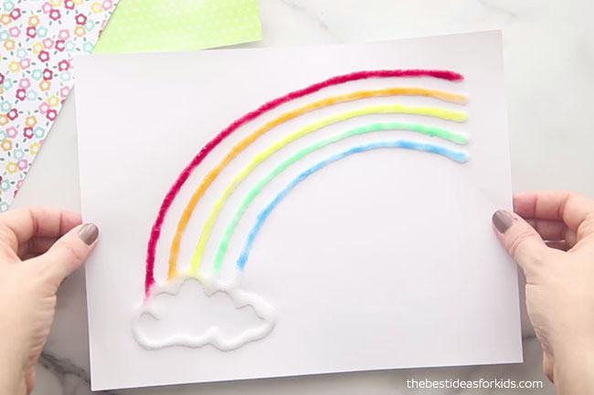 Rainbow Art Salt Painted